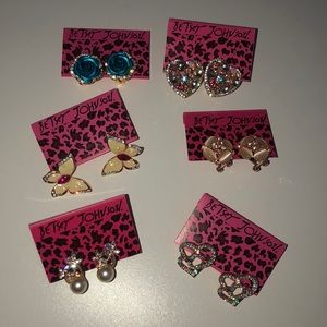 Betsey Johnson earring lot flowers butterflies